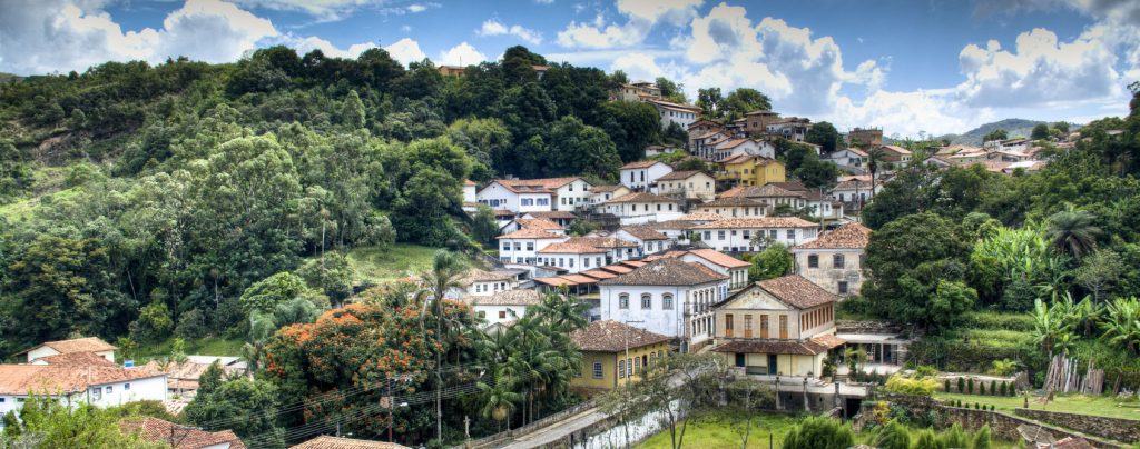 Vue de Ouro Preto, ville coloniale