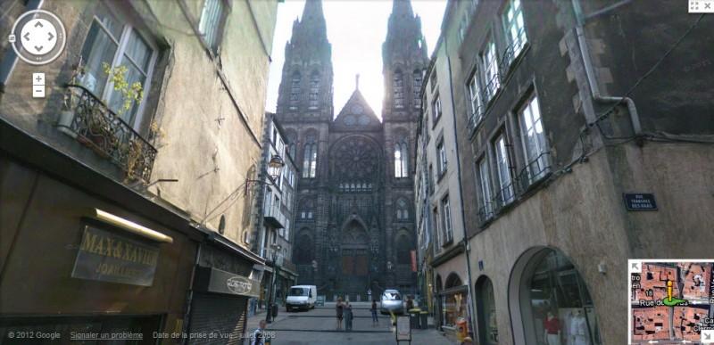 La Cathédrale de Clermont-Ferrand vue dans Street View